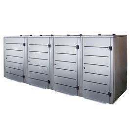 Mülltonnenbox Eleganza Line für vier 120 Liter Mülltonnen