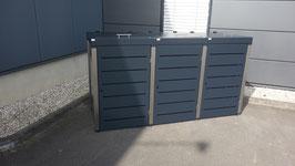 Mülltonnenbox Campa Plus für drei 120-240 Liter Mülltonnen