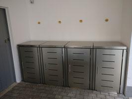 Mülltonnenbox Toppic für vier 240 Liter Mülltonnen