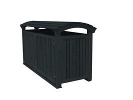Mülltonnenbox Mailo für drei 240 Liter Mülltonnen in Anthrazitgrau lasiert