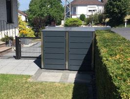 Mülltonnenbox Campa für zwei 120 - 240 Liter Mülltonnen mit fester Deckelplatte