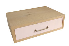 Blassrosa Holzschublade/wooden drawer