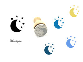 Mond Sterne - Ministempel