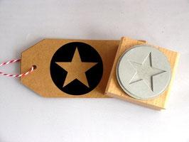 Stern im Kreis - Motivstempel