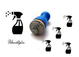 Sprühflasche, Glasreiniger - mini Stempel