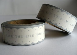 Washi Masking Tape - Live the life you love