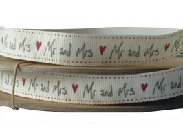 2 m Band Mr and Mrs ❤ Handschrift