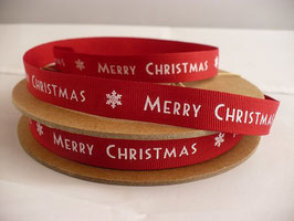 2 m Band Merry Christmas Handschrift rot