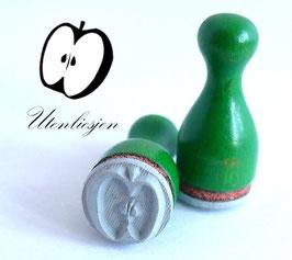 Stempel Apfel halbiert - Ministempel