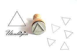Stempel Dreieck Rahmen oder gefüllt - Ministempel