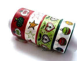 4er Set Masking Tape - Weihnachten