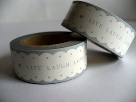 Washi Tape - Wellenrand, Live Laugh Love