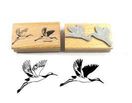 Stempel Kraniche, fliegend - Motivstempel