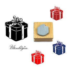 Geschenk mit Schleife - Motivstempel