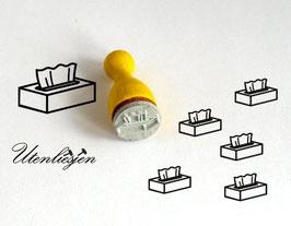 Box mit Papiertücher - Ministempel