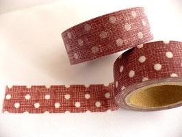 Masking Tape - rot mit weißen Punkte