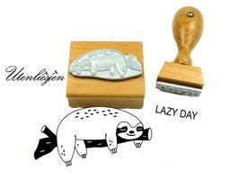 Faultier schlafend, Lazy day - Motivstempel