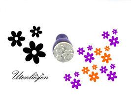 Stempel 3er Blumen - mini Stempel