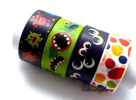 4er Set Masking Tape - Monster