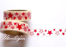 Washi Tape - Sterne rot