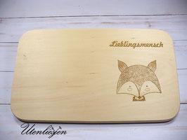 Holzbrettchen - Fuchs mit Namen
