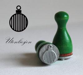 Christbaumkugel Streifen - Ministempel