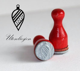 Stempel Christbaumkugel oval - Ministempel