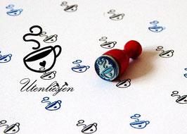 Tasse mit Herz - Motivstempel mini