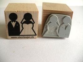 Motivstempel - Brautpaar