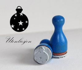 Stempel Christbaumkugel Sterne - Ministempel