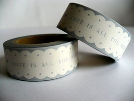Washi Tape - Wellenrand, Love is all you need