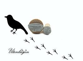 Vogel und Fußspuren - Stempelset
