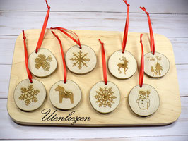 Astscheiben, Baumanhänger, Weihnachten