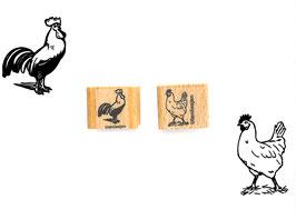 Hahn oder Huhn  - Motivstempel