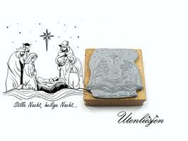 Weihnachtskrippe, Stille Nacht - Motivstempel
