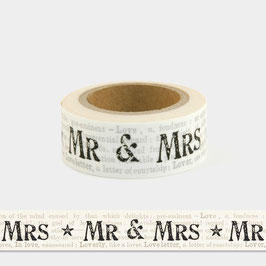 Washi Tape - Mr & Mrs