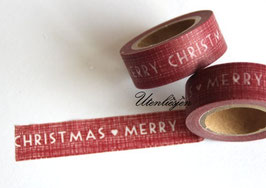 Washi Tape - Merry Christmas, rot