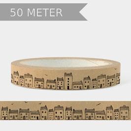 Washi Tape  50m Häuser