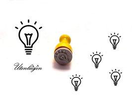 Glühbirne, Licht - Ministempel
