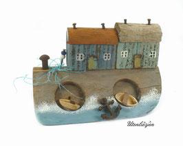 Treibholz - Fischerhäuser am Deich