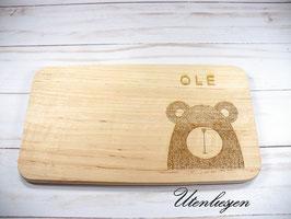 Holzbrettchen - Bär mit Namen