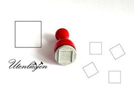 Quadrat Rahmen oder gefüllt - Ministempel