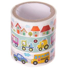3er Set Masking Tape - Fahrzeuge