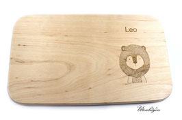 Holzbrettchen - Löwe mit Namen