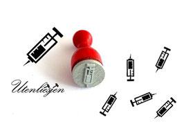 Stempel Spritze - Ministempel
