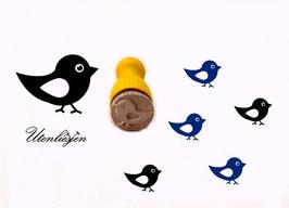 Vogel laufend - mini Stempel
