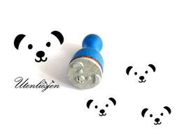 Stempel Bär Gesicht, Junge oder Mädchen - Ministempel