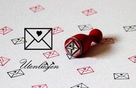 Brief mit Herz - Ministempel