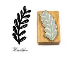 Alge, Blätterstengel rund - Motivstempel