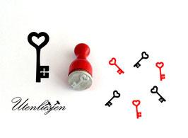 Schlüssel mit Herz - Ministempel